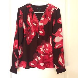 International Concepts INC Pink & Maroon Blouse